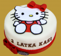 Mały tort z Hello Kitty