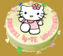 tort hello kitty z motylkami